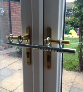 French doors secure
